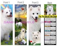 3 Set-American Eskimo 2019 Calendar BOOKMARK Samoyed Husky Dog Gift Book Card