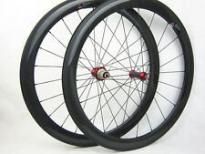 50mm tubular full carbon fiber road bike wheels UD matte 271/372 hub