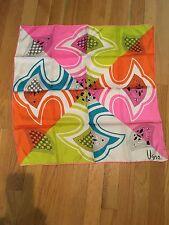 "Vtg NWOT Gorgeous Large VERA NEUMANN SCARF Silk 22.5"" Square Mod Hipster Retro"