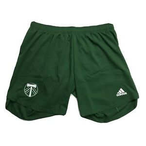 Adidas Portland Timbers MLS Authentic Soccer Shorts Green Men's Size XL NEW