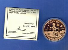 2013 $3 CANADA BRONZE COIN: AN ALLEGORY  CANADIAN PROOF -WITH BOX COA /15000