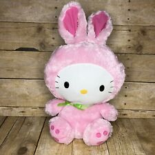 """2011 TY Hello Kitty By Sanrio Easter Bunny Stuffed Animal Plush 12"""" Preowned"""
