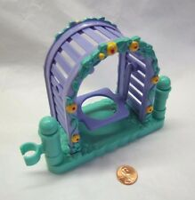 New! Fisher Price Little People SWING TRELLIS FENCE Flowers PURPLE ARBOR Park