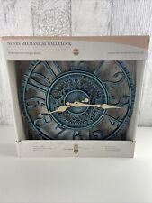 "Smart Garden 12"" / 30cm Newby Mechanical Outdoor Wall Clock in Verdigris Green"