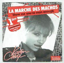 """karen CHERYL Vinyl 45 tours SP 7"""" LA MARCHE DES MACHOS - IBACH 60116 RARE Limité"""