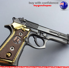 Large Metal Gun Beretta 92 Collectable Keyring Pistol Key Ring Glock Toy Gun AU