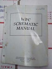 wpc schematics arcade manual