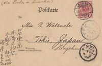 Japan: Post card from Germany Aachen, 1898 to Tokio