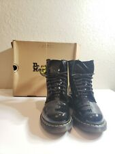 Dr. Martens 1460 Women's Smooth Leather 8 Eyelet Boots Size 10 us - Black
