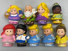 Lot of 9 Little People Figures Cinderella Belle Tiana Rapunzel Noah Easter Toys