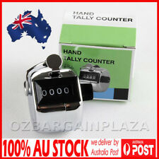 4 Digit Tally Counter Hand Held Chrome Plated Inventory Counter or Golf Clicker
