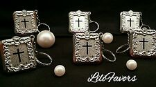 36 PCS Baptism Mini Bibles Favors Keychain Party Communio Recuerdos De Bautizo.