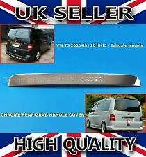 VW T5 TRANSPORTER CHROME REAR GRAB HANDLE COVER TAILGATE DOOR STAINLESS STEEL