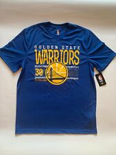 NEW NBA Stephen Curry Golden State Wariors T-Shirt Blue Size Large