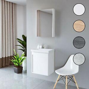 Planetmöbel Badmöbel Set 50cm Gäste WC Bad Waschbecken Unterschrank Spiegel