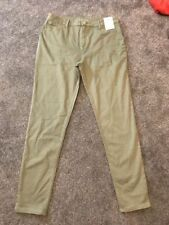 Cotton/Polyester/Elastane Green Jeans for Women