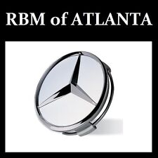 Genuine Mercedes Benz Raised Star Wheel Center Caps