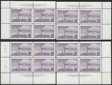 Canada 312 MNH - Matched Inscription Blocks - Stamp Centenary - Ships