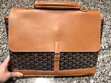 GOYARD Paris Leather Attache Briefcase Bag