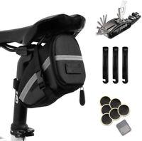 Bike Repair Tool Kits 16 in 1 Bicycle Saddle Bag with Repair Set Mechanic Tyre