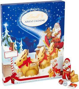Lindt Advent Calendar Silver , Teddy , Milk Chocolate Christmas Gift