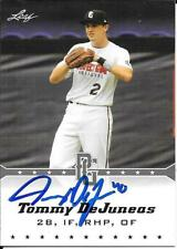 Tommy DeJuneas signed 2014 Leaf Perfect Game - Cleveland Indians Prospect