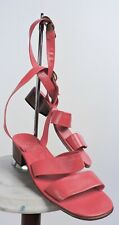 Vintage Italian 1970'S Deadstock Sandal Shoes W Wrapping Ankle Straps