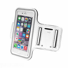 Sports Running Jogging Gym Armband Waterproof Cover for iPhone 5,5s,5c White