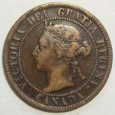 1894 CANADA ONE 1 CENT VICTORIA LARGE PENNY COIN