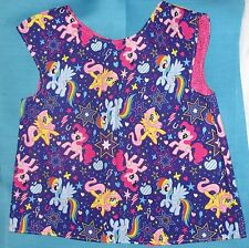 MY LITTLE PONIES TODLERS ART SMOCK SZ 2-5 YR LINED ADJ BUTTON & LOOP HANDMADE