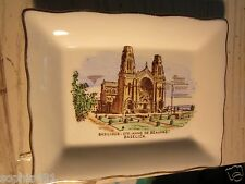 "Vtg Ceramic Pin Dish/Tray Basilique-Ste Anne de Beaupre Quebec 4"" x 5"""