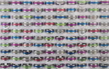 32pcs Wholesale Jewelry Lots Mens Cat's-eye Stone Stainless Steel Trendy Rings