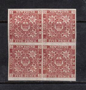 Newfoundland #19a Extra Fine Mint Block Full Original Gum Very Lightly Hinged