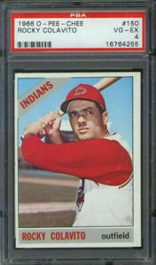 1966 O-Pee-Chee #150 Rocky Colavito PSA 4 Cleveland Indians