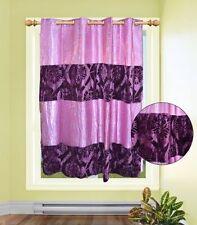 Rideaux et cantonnières violette en polyester pour la chambre