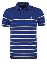 Men's RALPH LAUREN SMALL PONY Custom Fit Premium Stripe Blue M T-Shirt £ 0.99