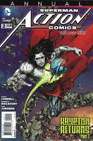 Superman Issue 2 Action Comics Annual The New 52 2013 Lobdell Rocafort Jurgens