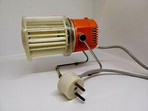 Vintage Space Age DESK FAN 70s Orange Made in GDR East Germany. Working!!! Rare!