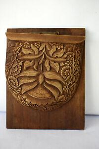 """Vintage Bookends Shelf Holder Book Holder Wooden Book Stand Carved Desk Organ""""F2"""
