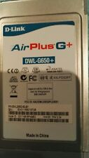 D link Air Plus G+ DWL G650+ wirelrss cardbus adaptor