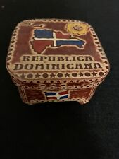 Dominicana Republic Coasters & Holder Set Collectible Dining Barware