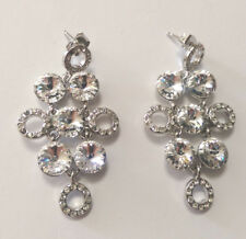 Formal Chandelier Clear Crystal Earrings