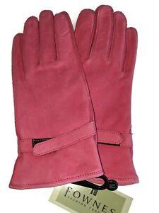 Fownes Paris Suede LeatherGloves,Large, Fuchsia