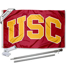 USC Trojans Arch Flag Pole and Bracket Gift Package