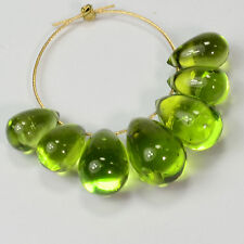 Gem Grade Burmese Peridot Smooth Full Teardrop Briolettes Beads (7)