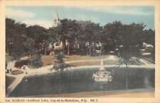 Cap De la Madeleine Quebec Canada Artificial Lake Antique Postcard K94512