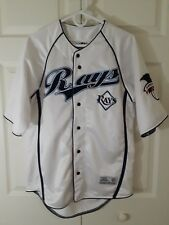 Tampa Bay Rays Button Front, Sewn Appliques, Medium Jersey