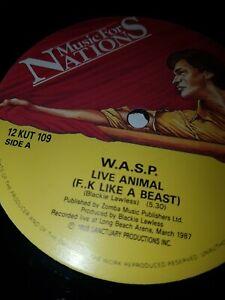 "WASP 'Animal (F**k like a beast)' 12"" Vinyl + Poster Sleeve 12KUT109"