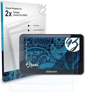 Bruni 2x Folie für Snooper Ventura Pro S6810 Schutzfolie Displayschutzfolie