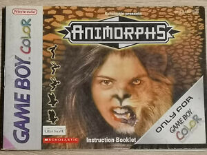 Animorphs Game Boy Gameboy Color (Manual Only)
